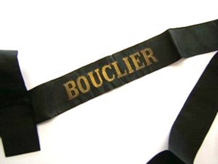 BOUCLIER avant 1939 RUBAN LEGENDE ORIGINAL CAP TALLY